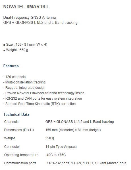 Unmanned Solution - Smart Antennas - NOVATEL SMART6-L