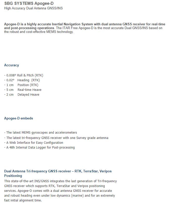 (주)언맨드솔루션  SBG SYSTEMS Apogee-D