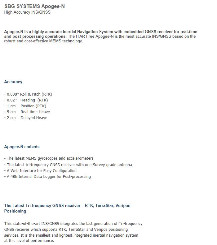 (주)언맨드솔루션  SBG SYSTEMS Apogee-N