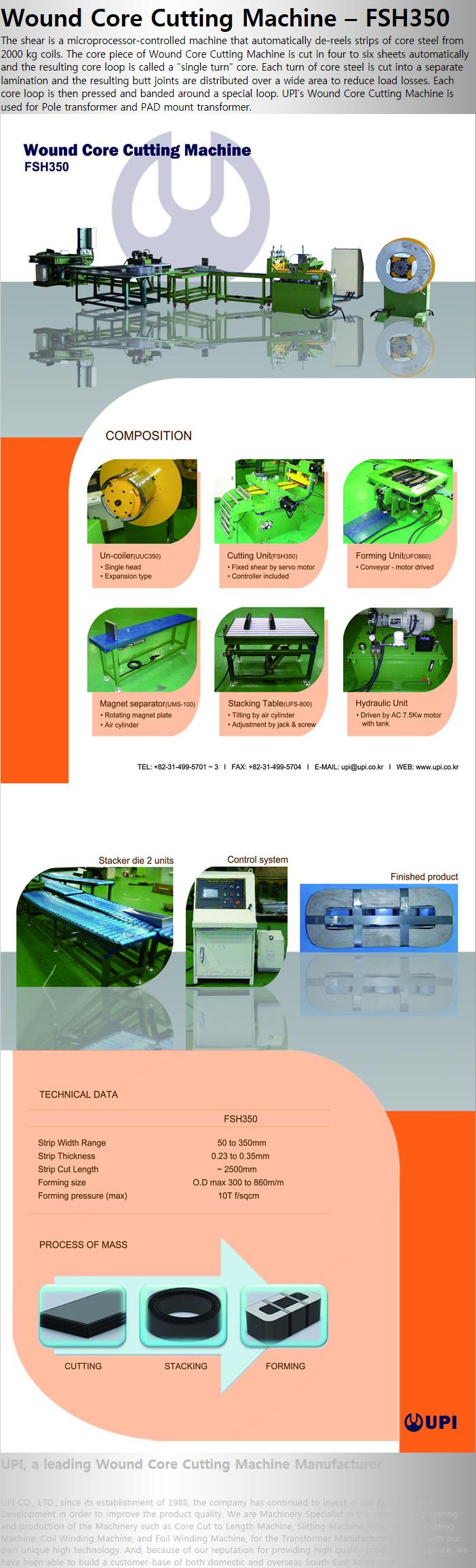 UPI Wound Core Cutting Machine FSH350