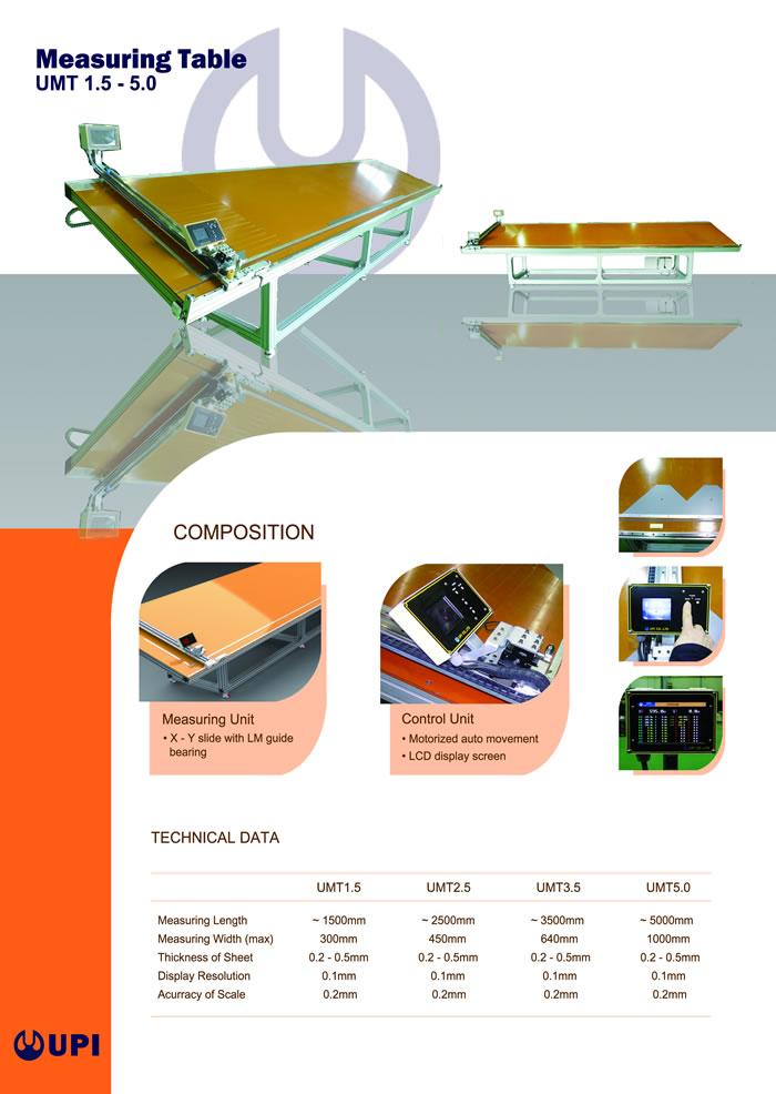 UPI Measuring Table
