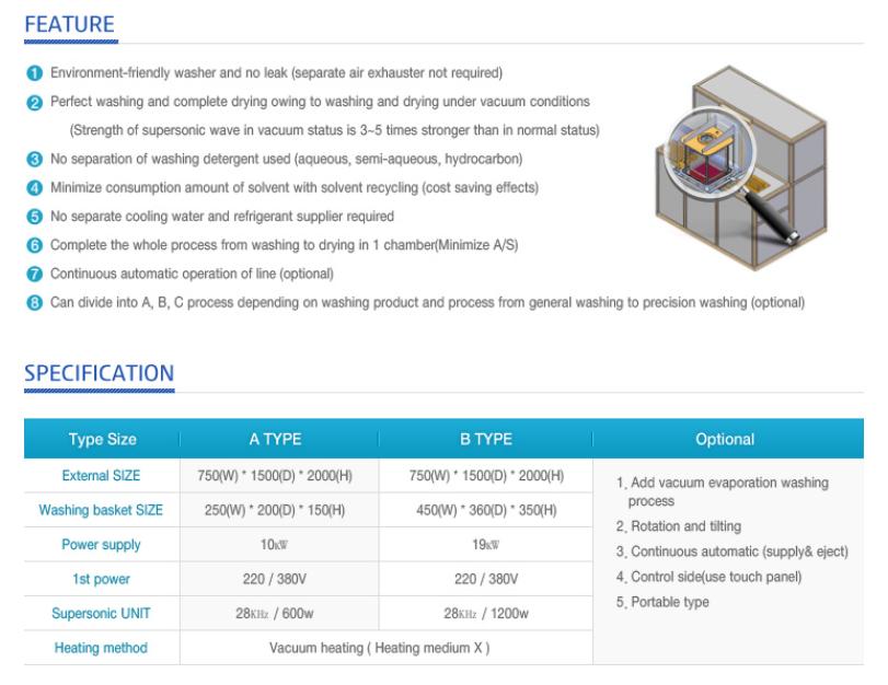 VACUUM PLANT HANARO Vacuum Supersonic Washer  1