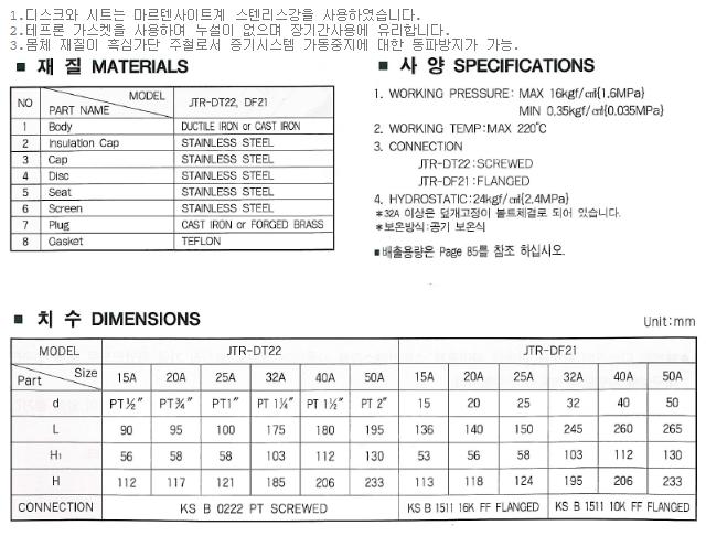 대유상공 디스크트랩 (JKD-AV4) JTR-DF21