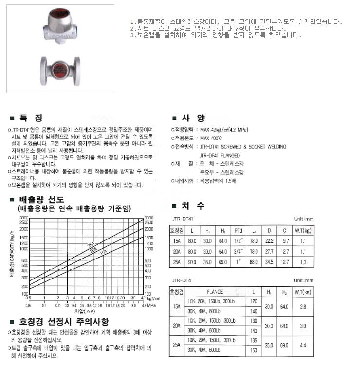 대유상공 디스크트랩 (JKD-41S) JTR-DT41