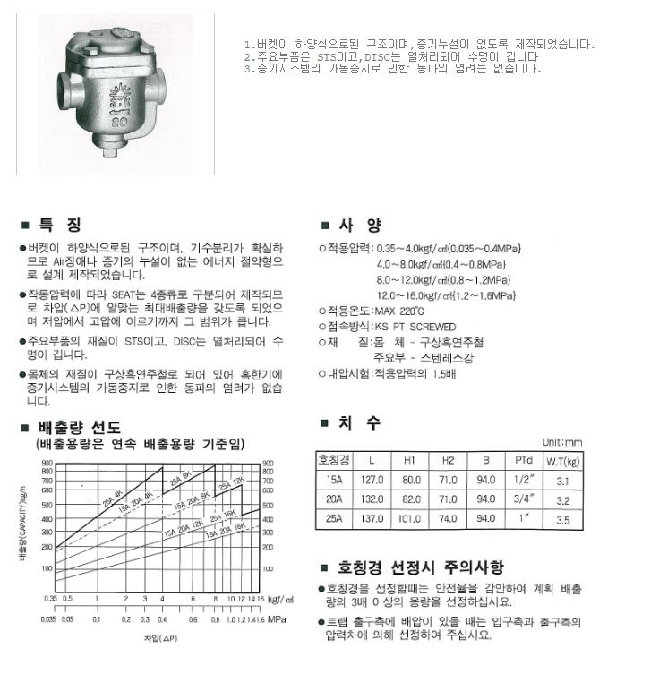 대유상공 버켓 트랩 (JKD-BT4) JTR-BT21