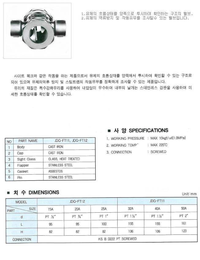 대유상공 양면글라스 (JKD-GIF) JDG-FT11/FT12