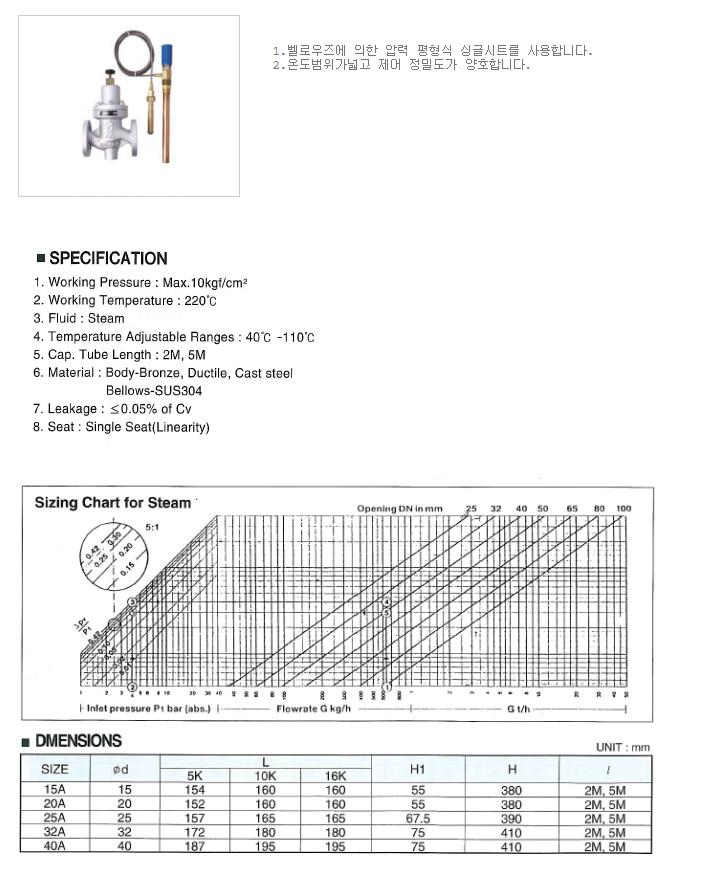 대유상공 온도콘트롤 밸브 JTC-DF13
