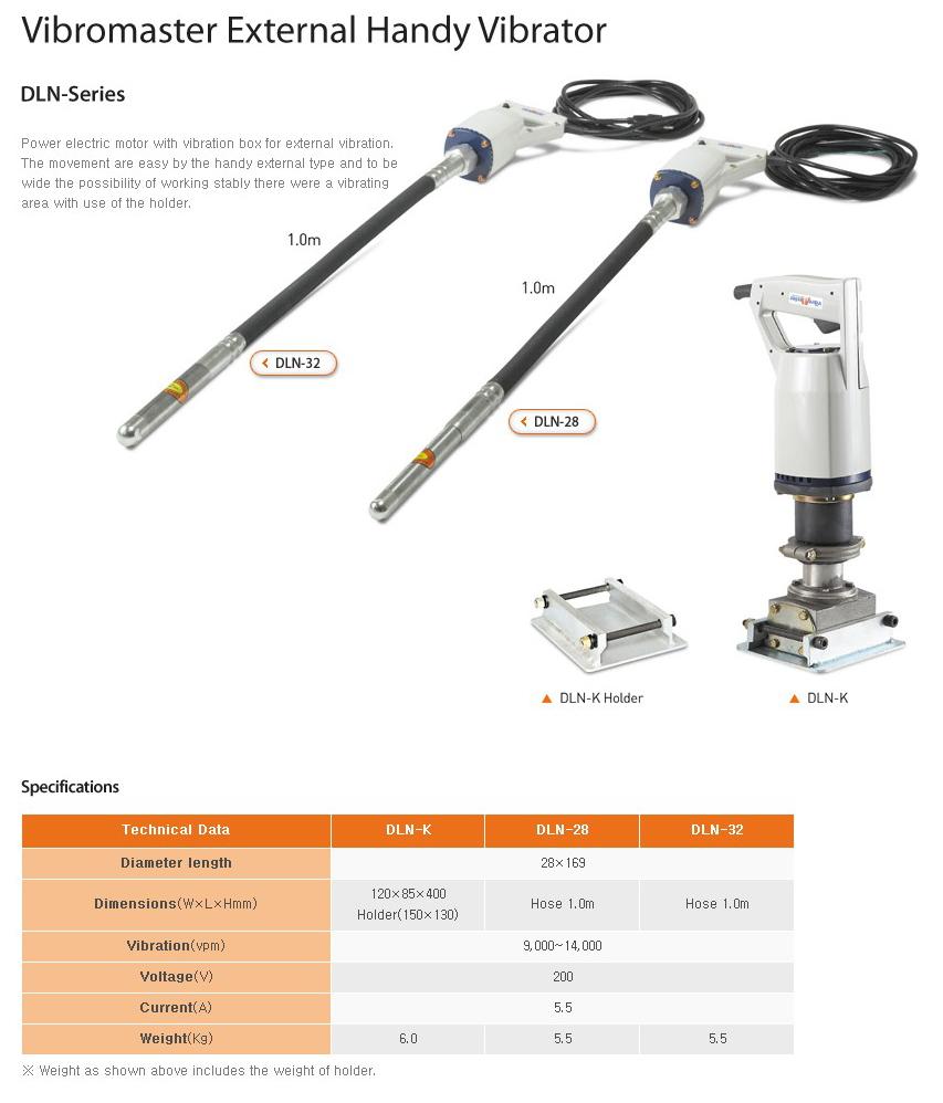 VIBRO MASTER Vibromaster External Handy Vibrator DLN -Series