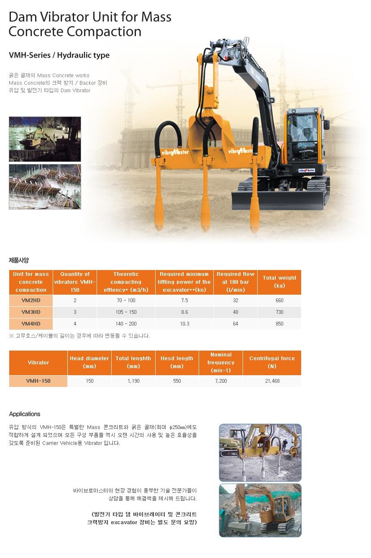 (주)브이비엠 댐 바이브레이터 VMH-Series 1
