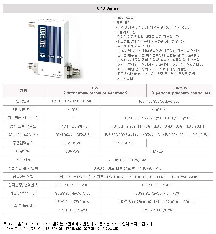 (주)브이시스 오토 프레셔 컨트롤러 (자동압력제어기기) UPS / UPCUS Series