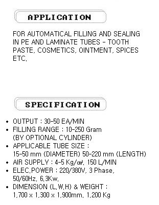 WAKO & CO Tube Filling & Sealing Machine WSTAF-01