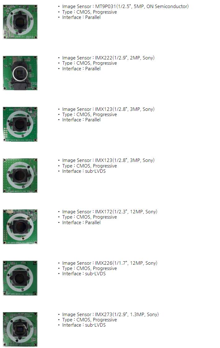 웨이투텍 Image Sensor Board