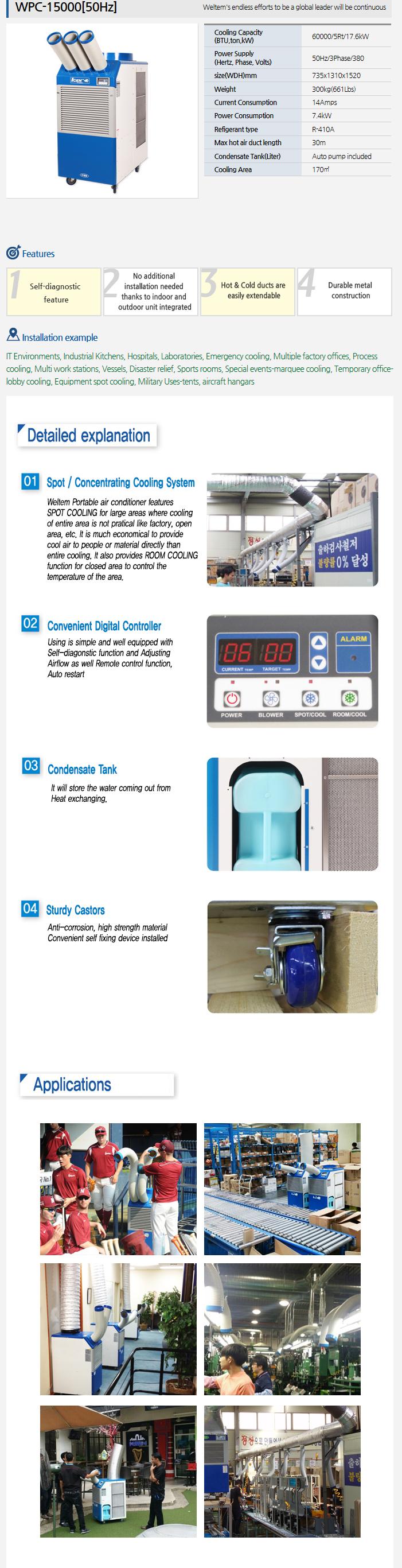 WELTEM Portable A/C (50Hz) WPC-15000