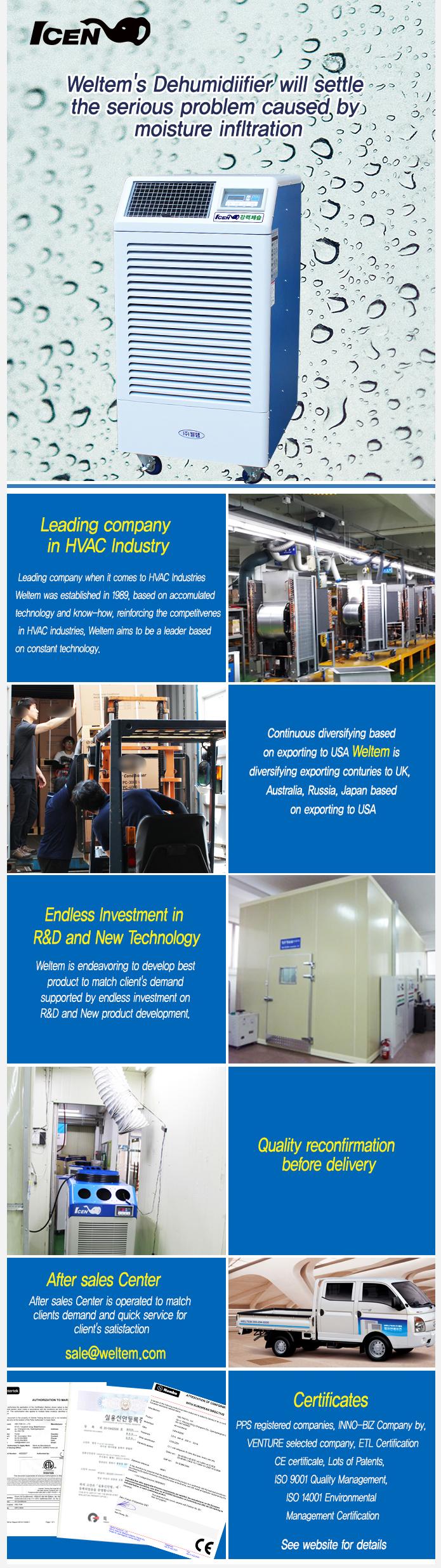 WELTEM Dehumidifier (50Hz) WPD-120 1