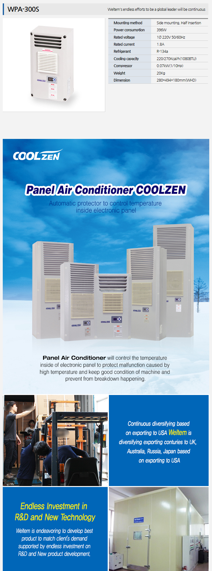 WELTEM Panel Air Conditioner WPA-300S