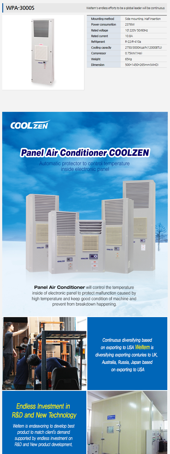 WELTEM Panel Air Conditioner WPA-3000S