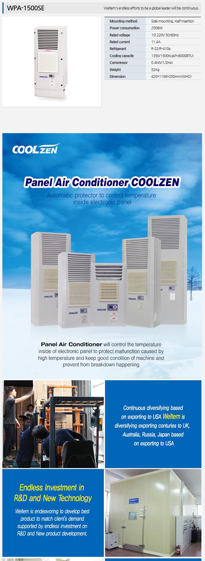 WELTEM Panel Air Conditioner WPA-1500SE