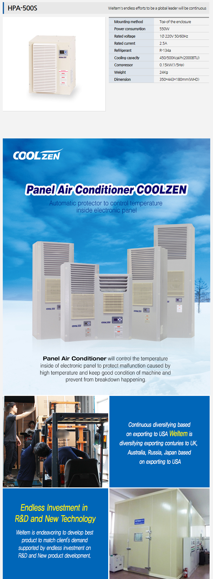 WELTEM Panel Air Conditioner HPA-500S