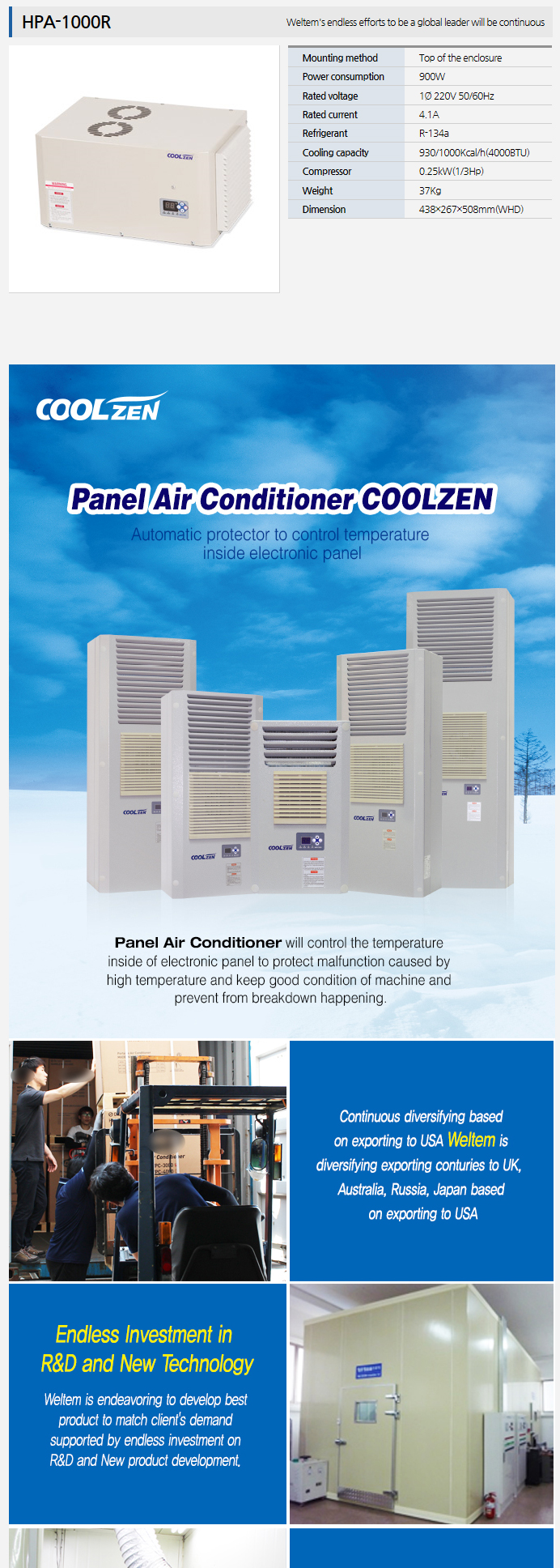 WELTEM Panel Air Conditioner HPA-1000R
