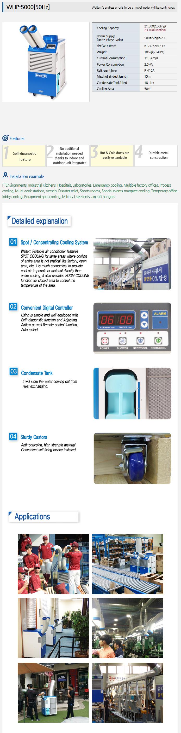 WELTEM Heatpump (50Hz) WHP-5000