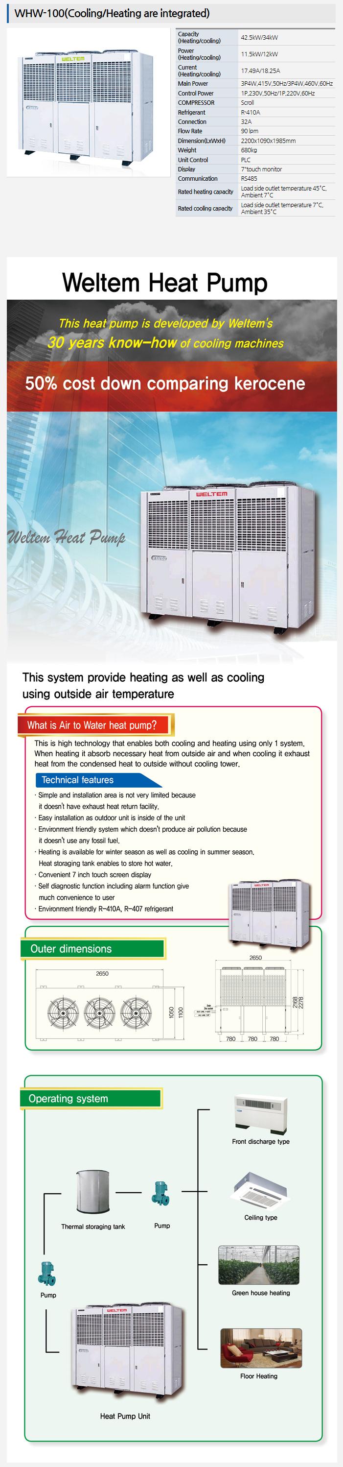 WELTEM Heatpump WHW-100