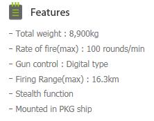 HYUNDAI WIA 76mm warship gun