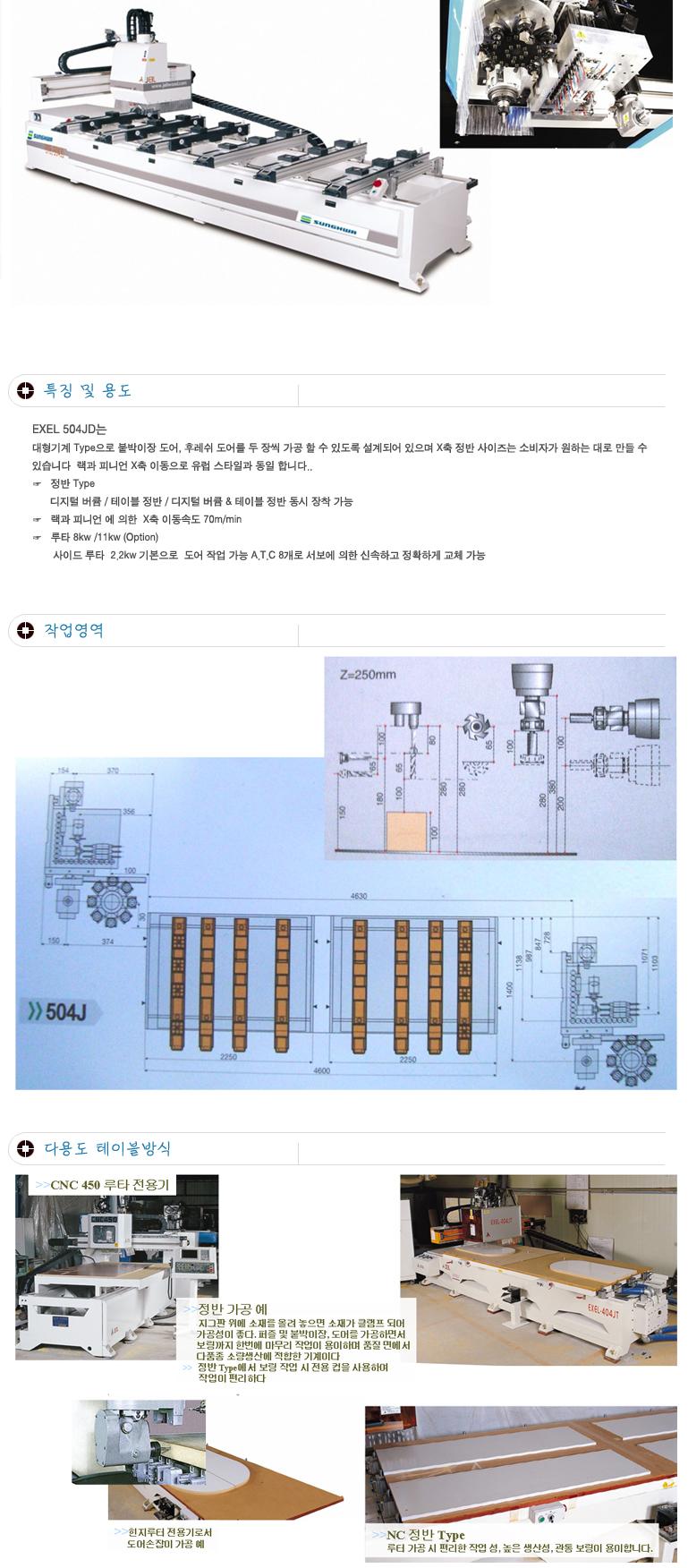(주)성화우드라인 포인트보링기 EXEL-504JD
