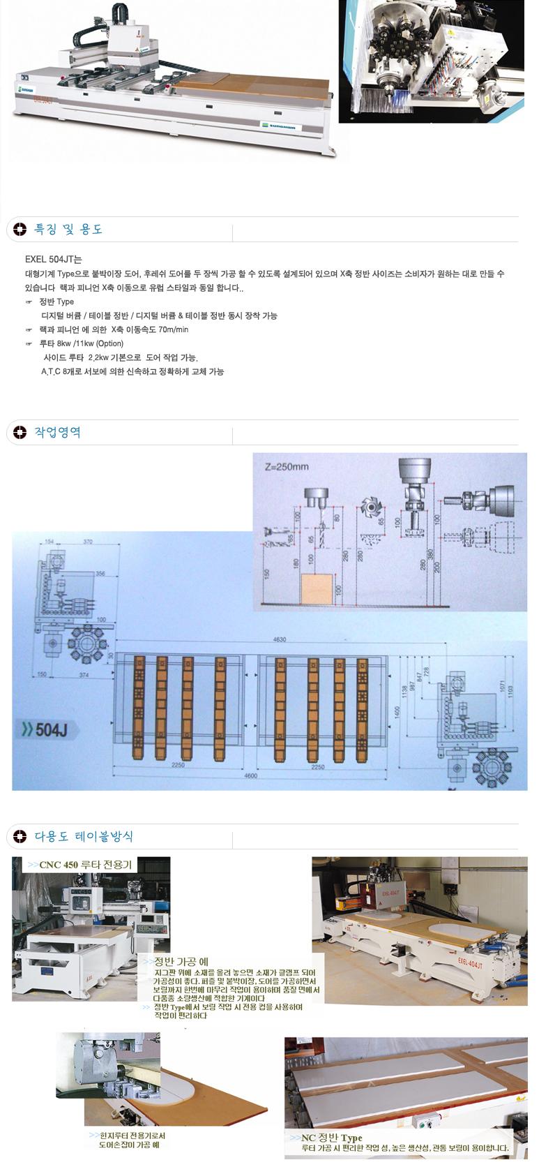 (주)성화우드라인 포인트보링기 EXEL-504JT