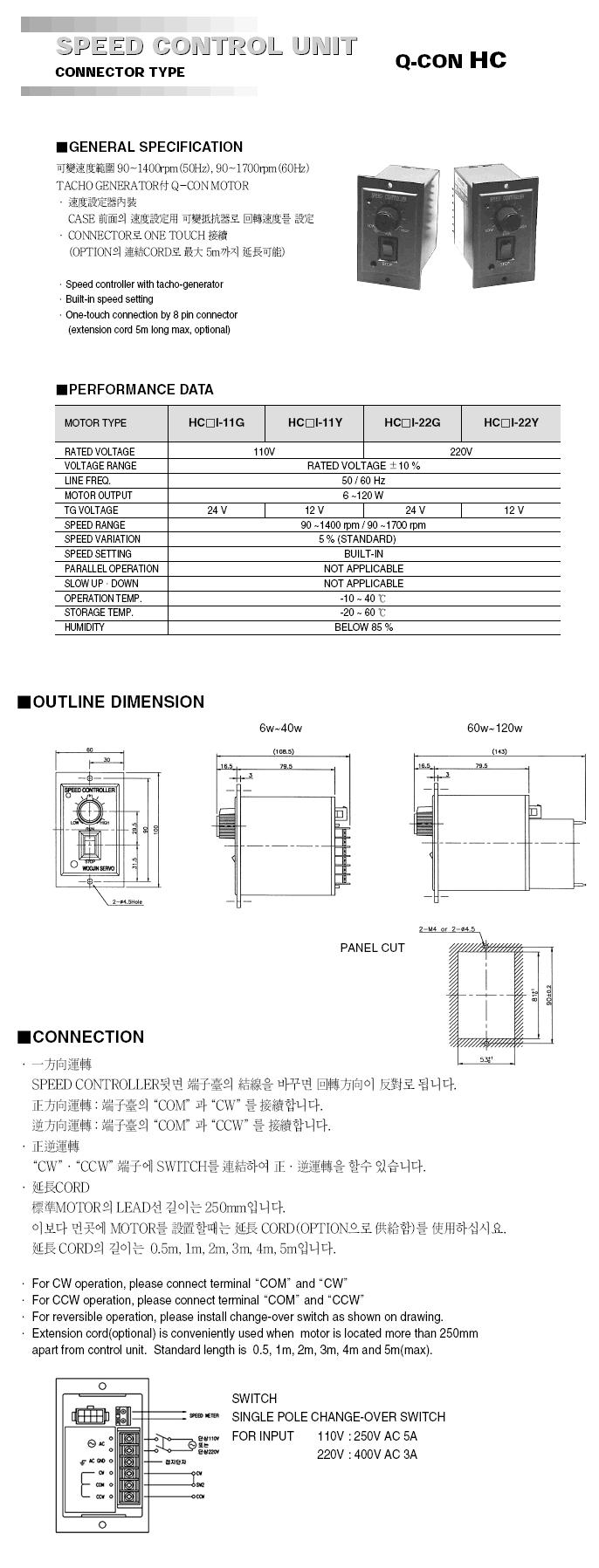 Woojin Servo Speed Control Unit Q-CON-Series 1