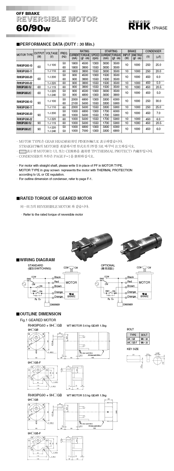 Woojin Servo Brake Motor HK-Series 3