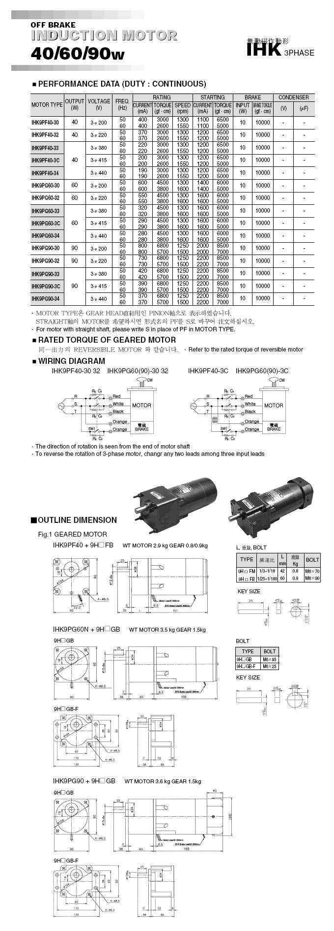 Woojin Servo Brake Motor HK-Series 4