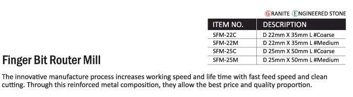 WOOSUK Finger Bit Router Mill SFM-Series