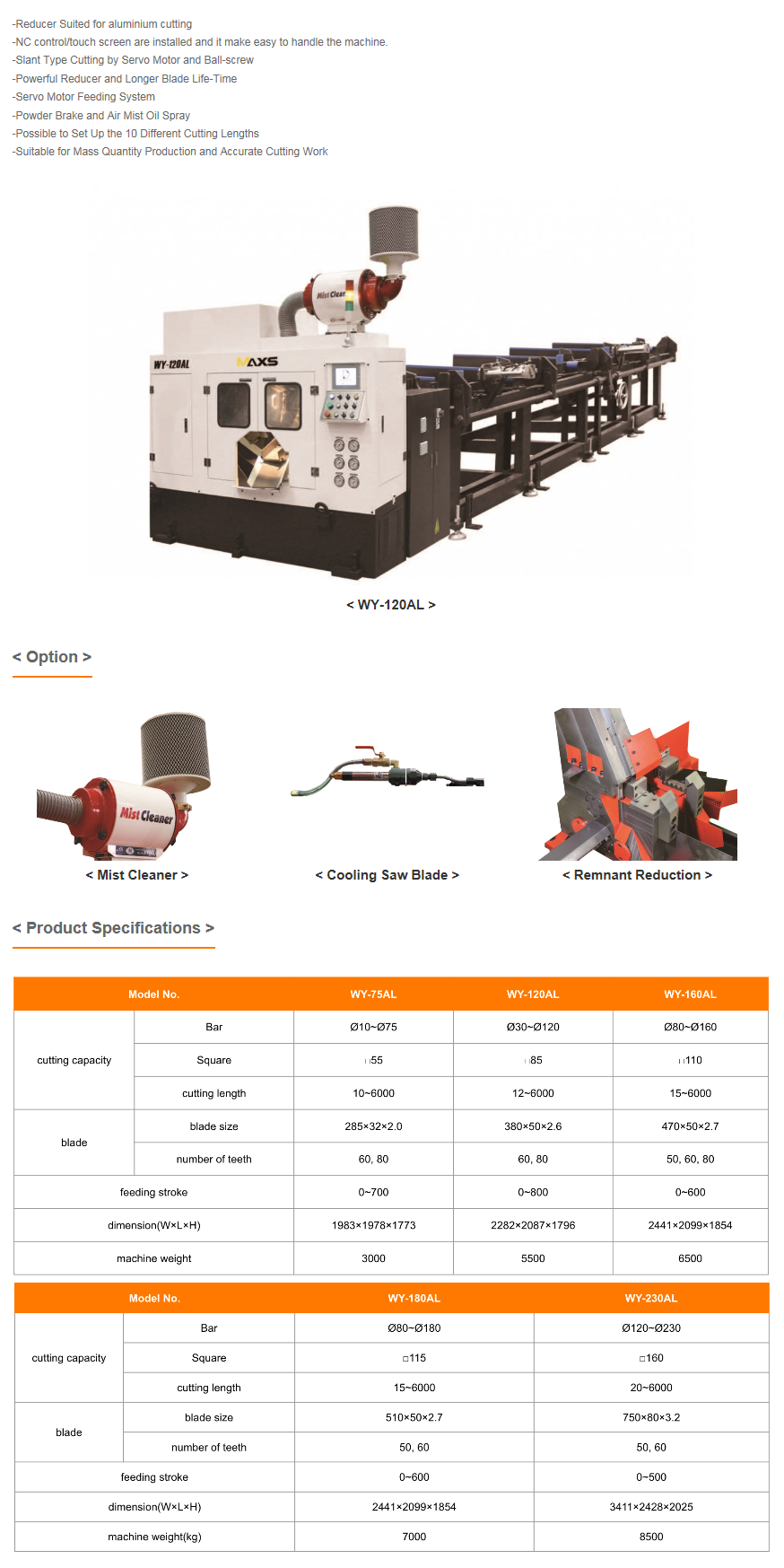 WOOYOUNG Circular Saw Machine WY-AL Series