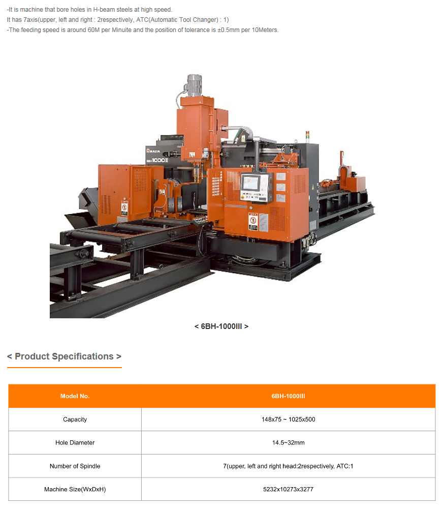 WOOYOUNG Drilling Machine 6BH-1000III