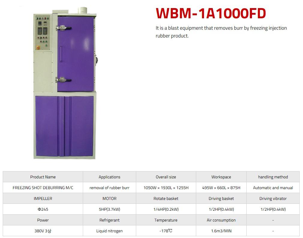 WORLD BALST Freezing Shot Deburring WBM-1A1000FD