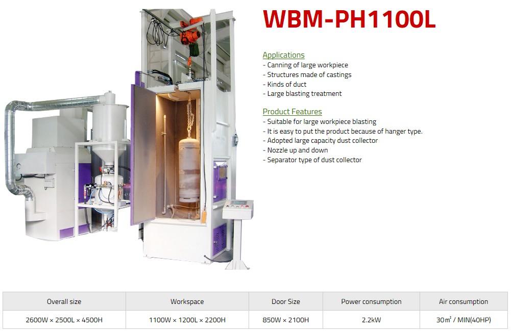 WORLD BALST Hanger Type Air Blast WBM-PH1000L/PH1100L 1
