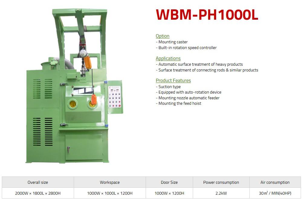 WORLD BALST Hanger Type Air Blast WBM-PH1000L/PH1100L