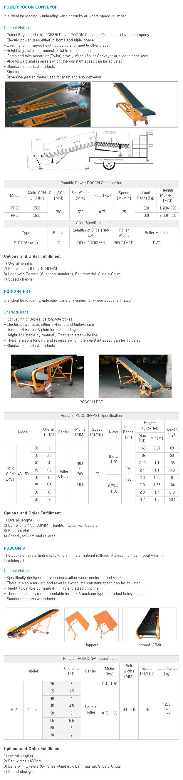 WOOYANG PRECISION Portable Belt Conveyor