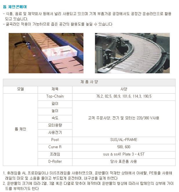 (주)우양정공 톱 체인 콘베어  1