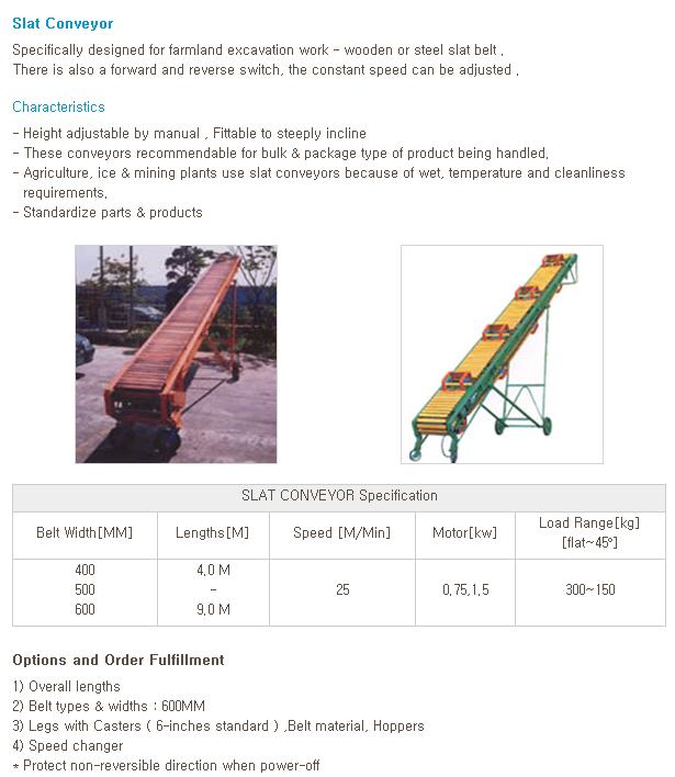 WOOYANG PRECISION Slat Conveyor