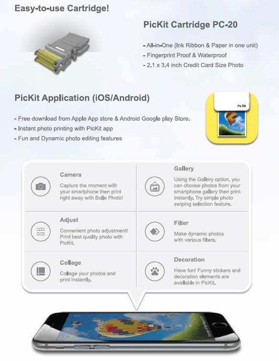 XMPD Mobile Photo Printer PicKit  2