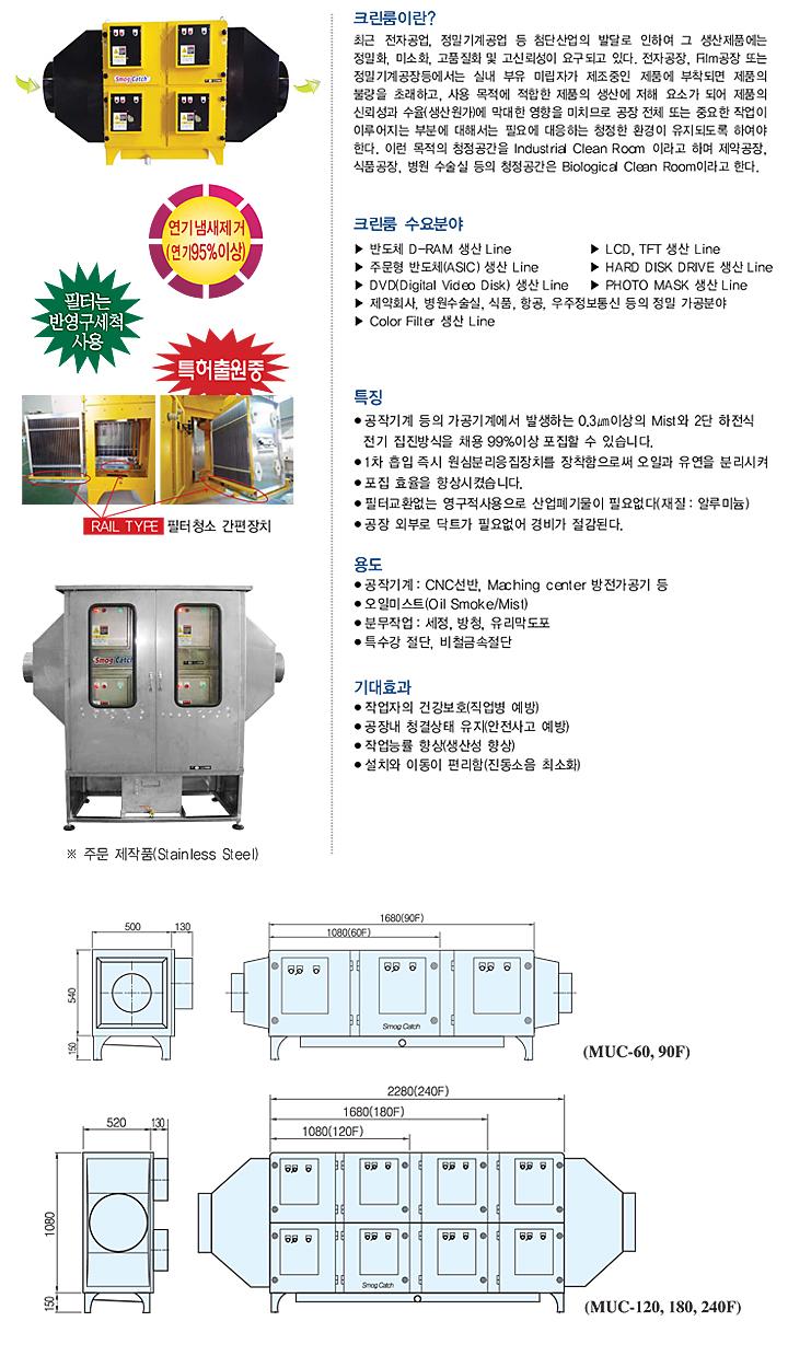 (주)YHB 에코 대형전기집진기 MUC-F-Series