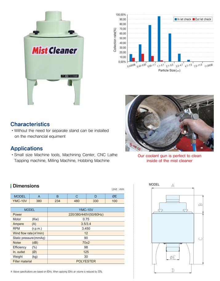 YHB Mist Cleaner (Vertical) YMC-10V