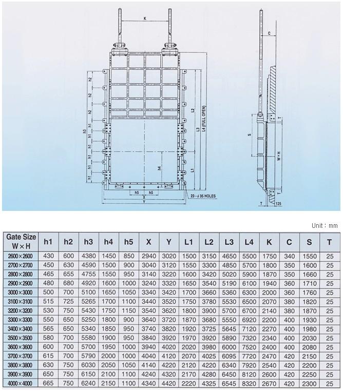 Yi Hwan Industry Sluice Gates (Rectangular)  4