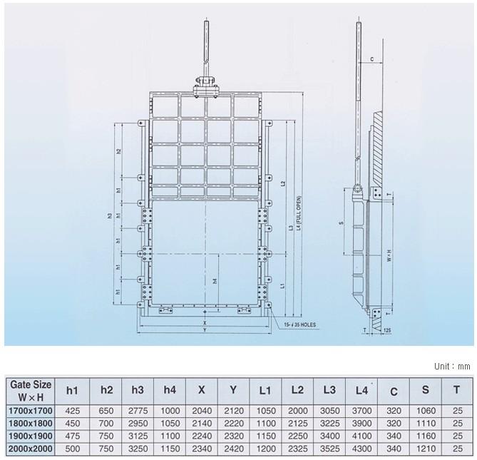 Yi Hwan Industry Sluice Gates (Rectangular)  2