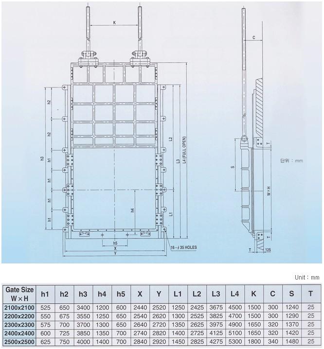 Yi Hwan Industry Sluice Gates (Rectangular)  3