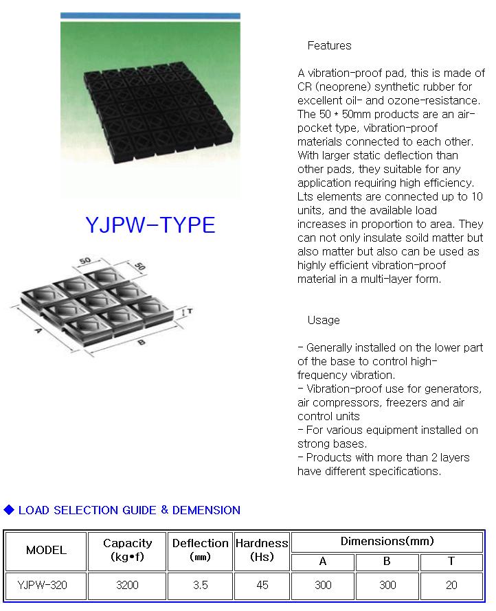YOUNGJIN V.N.C Super Waffle Pad YJPW-Type