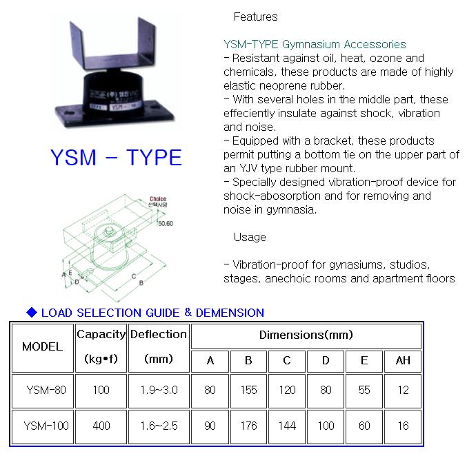 YOUNGJIN V.N.C Gymnasium Accessories YSM-Type