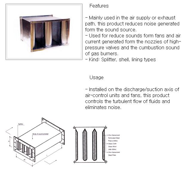 YOUNGJIN V.N.C Rectangular Sound Attenuator