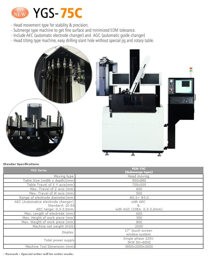 YOUGAR M&T Super Drill EDM (AEC, AGC) YGS-75C